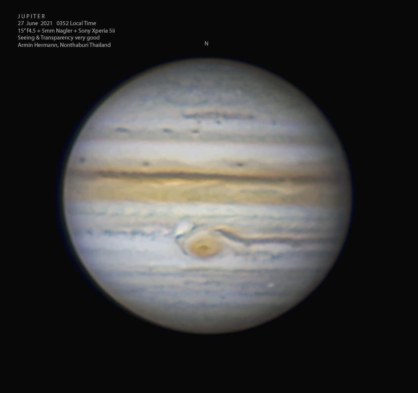 Stürmischer Jupiter