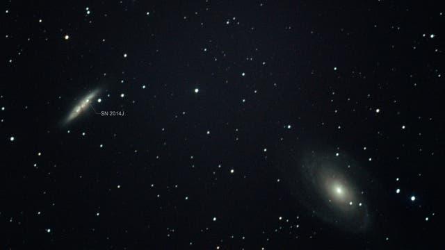 SN 2014J M 81 und M 82