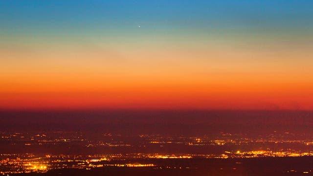Komet PANSTARRS (C/2011 L4) vom Königstuhl, Heidelberg