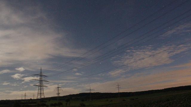 Saturn am Abendhimmel