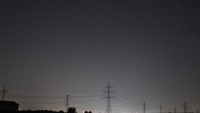Aufgehendes Sternbild Steinbock mit Saturn