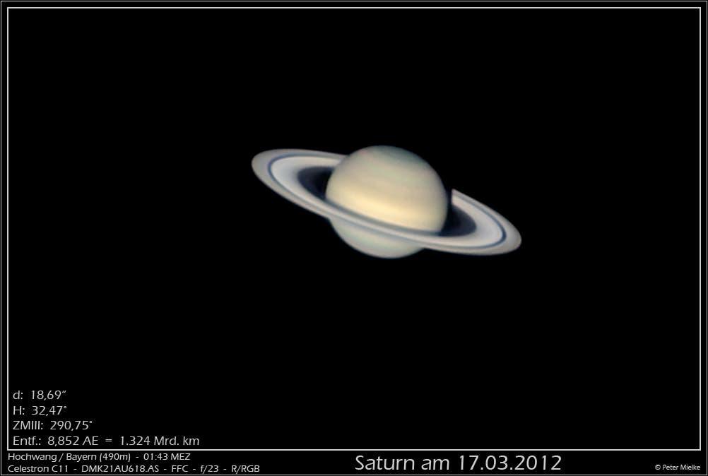 Saturn am 17.3.2012