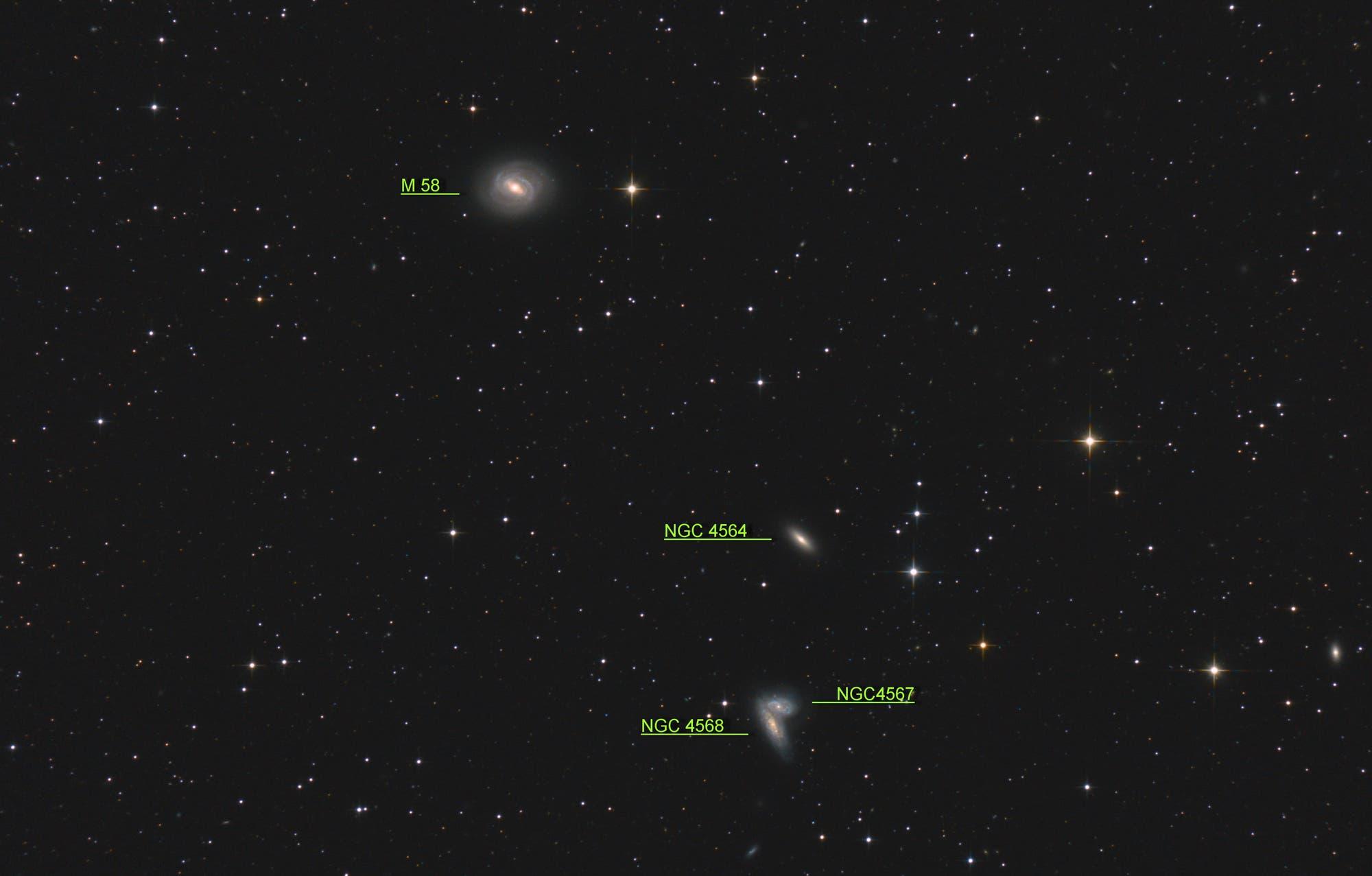 NGC 4567 / 4568, Siamesische Zwillinge (Objekte)