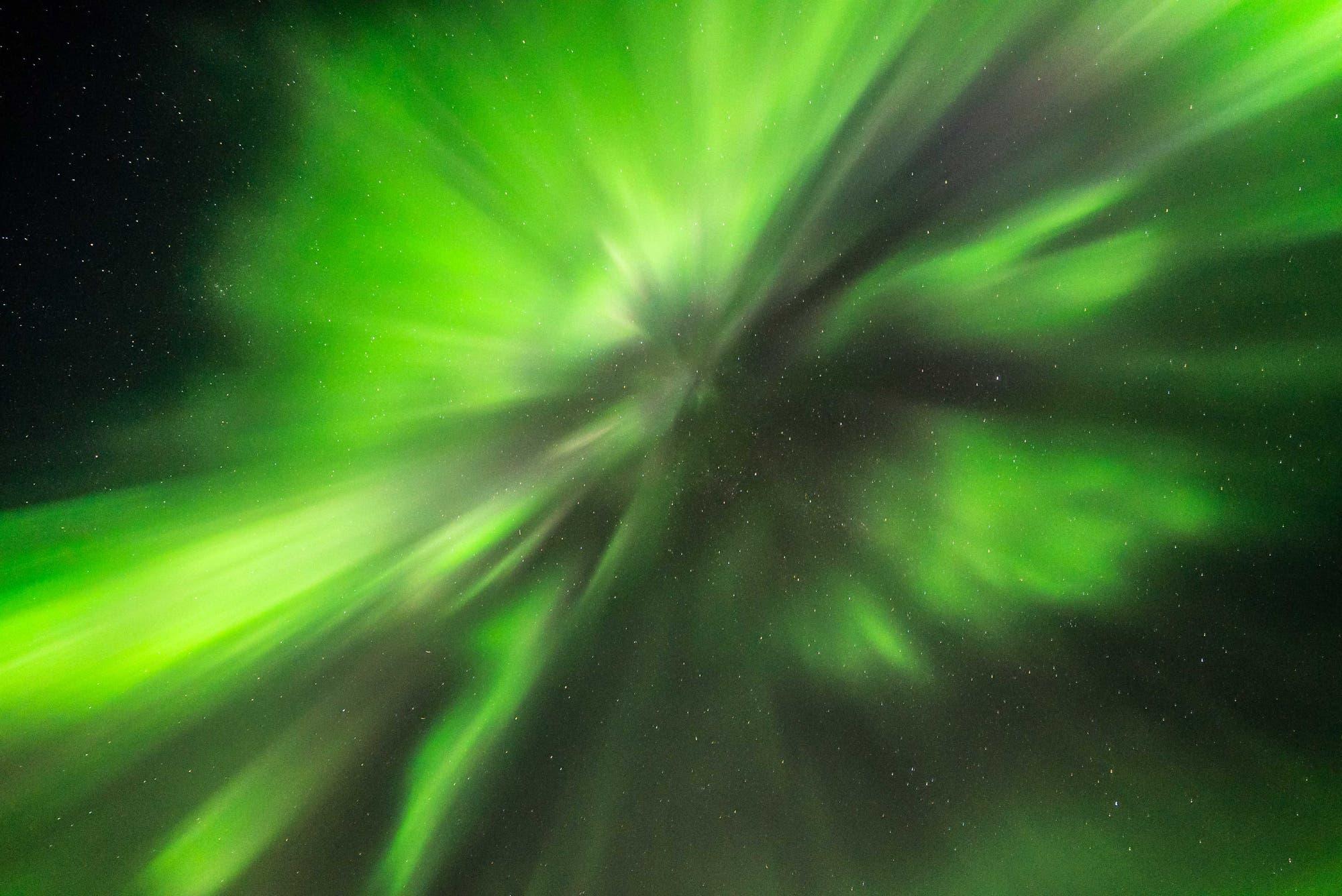 Polarlichtsturm bei Kp-Index 3-4