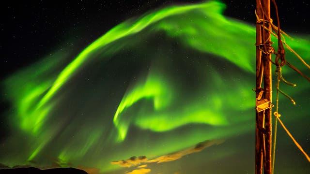 Polarlichtnacht im Skulsfjord