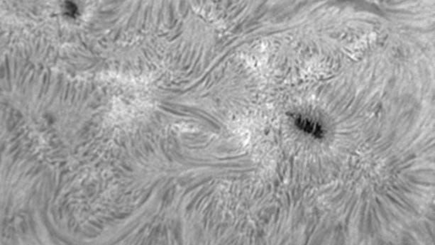 Sonne: Aktive Region 11520 in H-alpha
