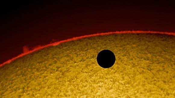 Venus-Transit 2012 im H-alpha-Licht