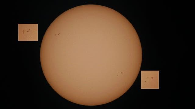 Sonnenfleckengruppen