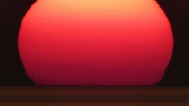 Sonnenuntergang über der Meldorfer Bucht