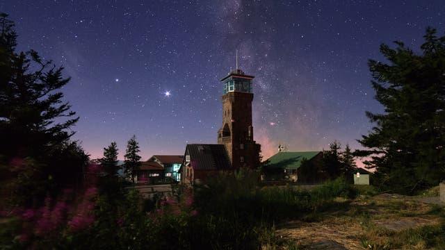 Eine Nacht auf der Hornisgrinde - Der Hornisgrindeturm