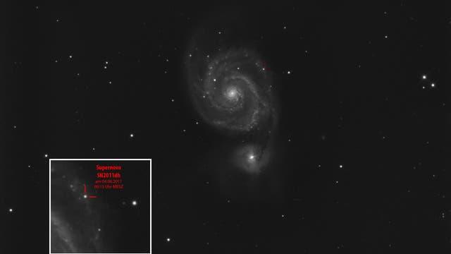 M 51 Whirlpoolgalaxie mit SN2011dh
