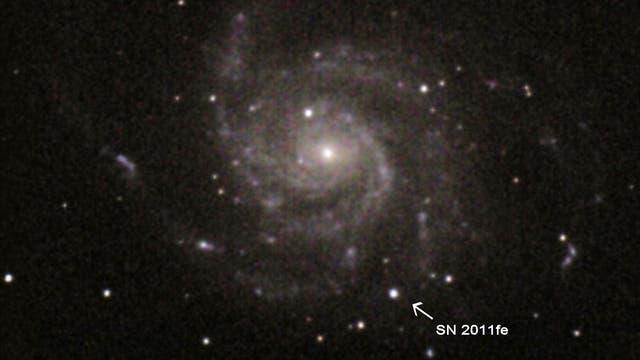 Supernova 2011fe in  Galaxie M 101