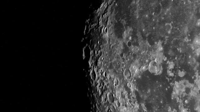 Ausschnitt vom Mond