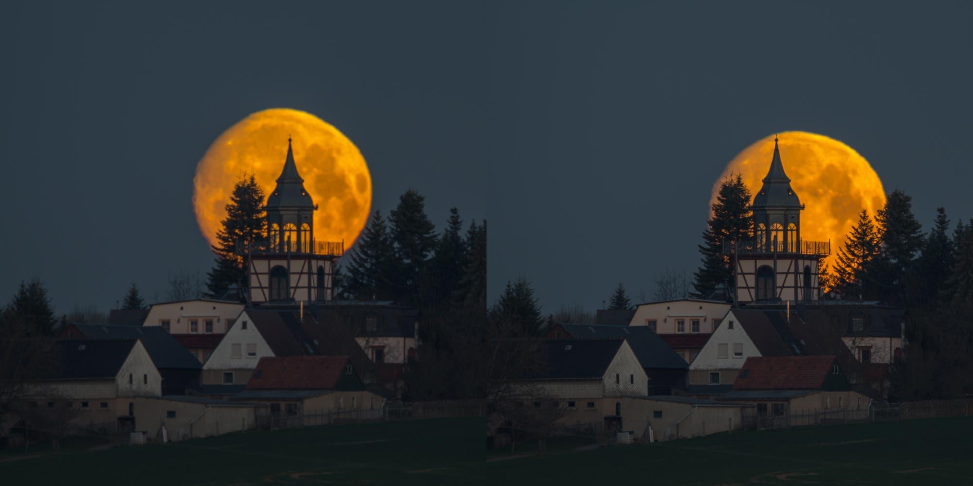 Monduntergang am Montagmorgen