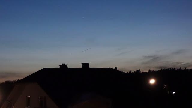 Merkur und Venus am Märzhimmel