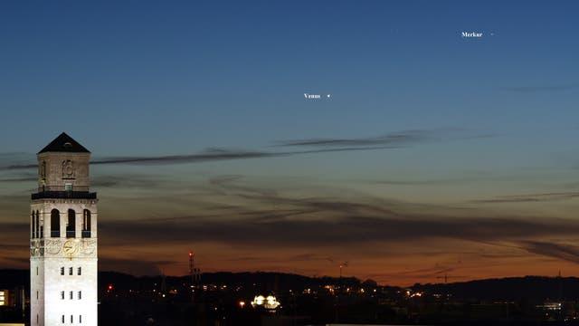 Venus und Merkur am 20. März 2018