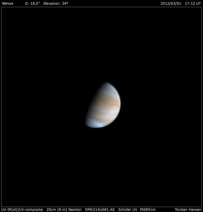 Venus im UV am 1.3.2012