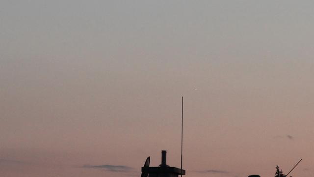 Venus in der Abenddämmerung des 28. August 2013