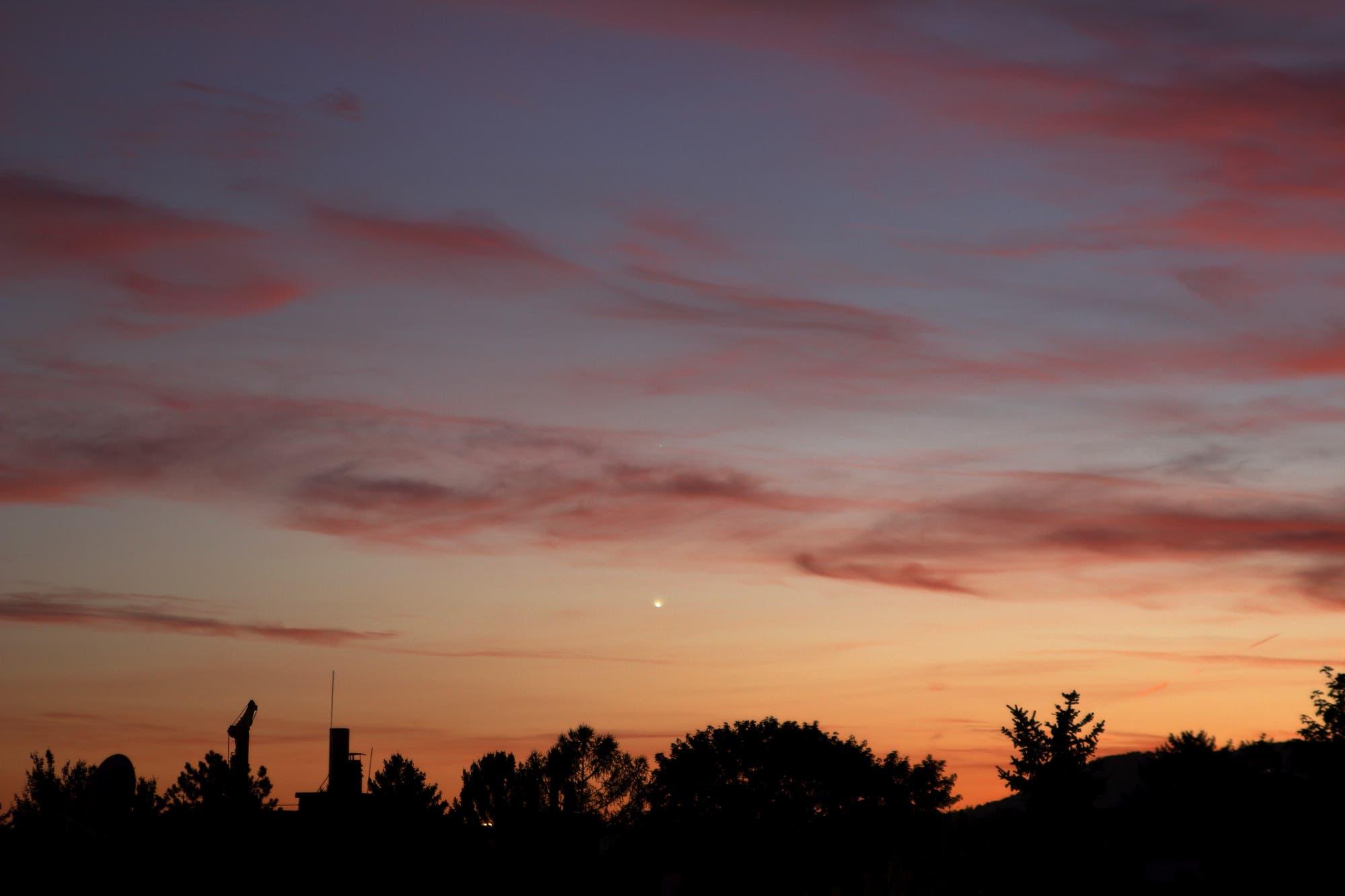 Abendrot, Abendplanet Venus und Alpha Librae