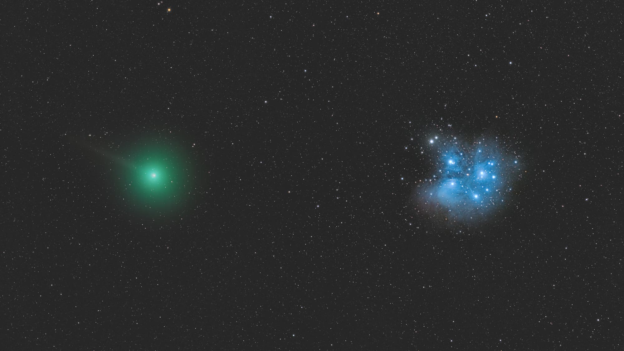 Komet Wirtanen im Helligkeitsmaximum
