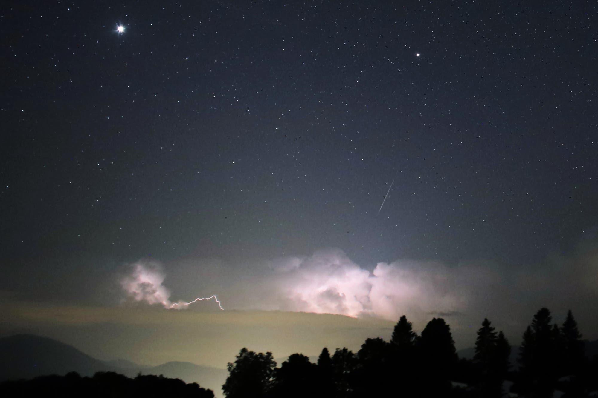 Zwei Planeten auf der Himmelsbühne