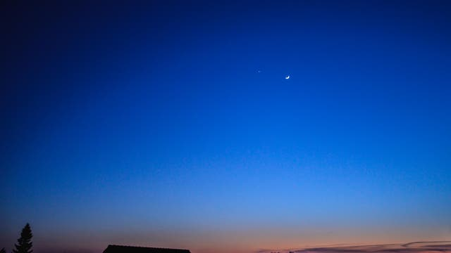 Mond, Jupiter, Venus - 25.3.2012