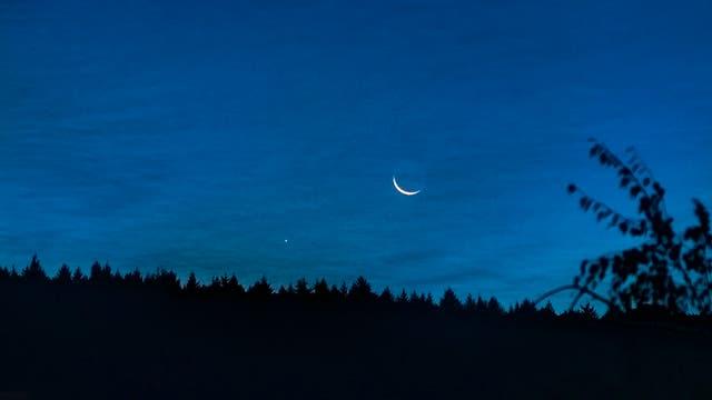 Mond und Merkur am 29. September 2016