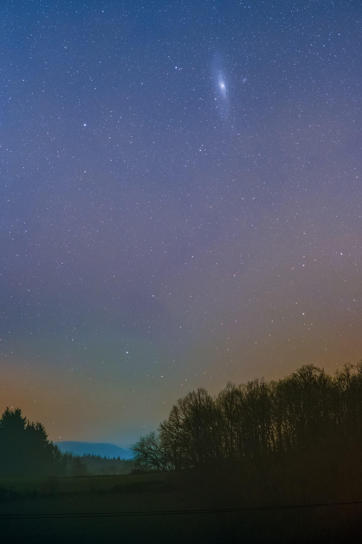 Andromedagalaxie über dem Odenwald