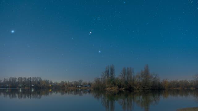 Orion über dem Binsfeldsee