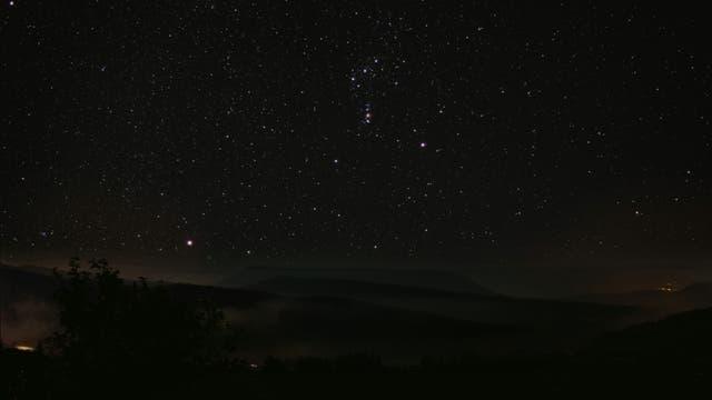 Orion über Ganagobie/Provence