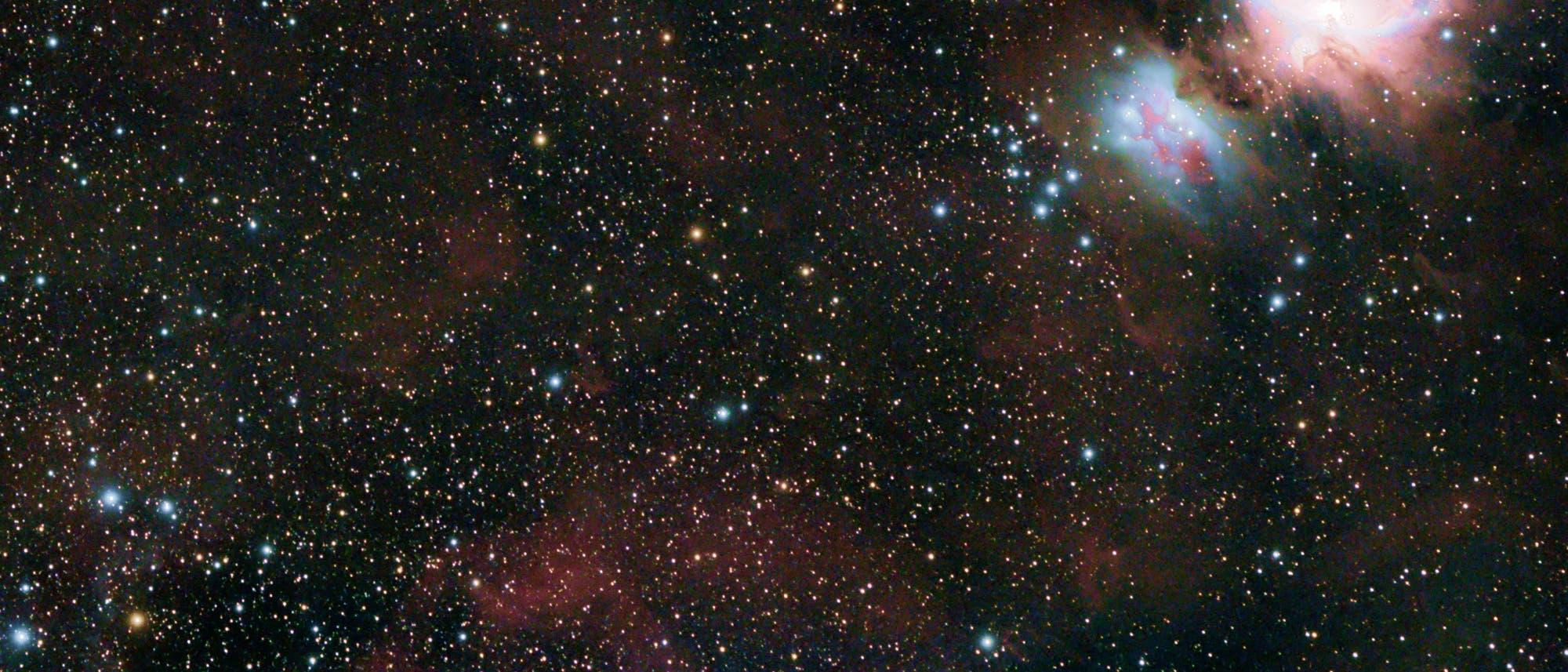 Orionkomplex mit Komet Atlas