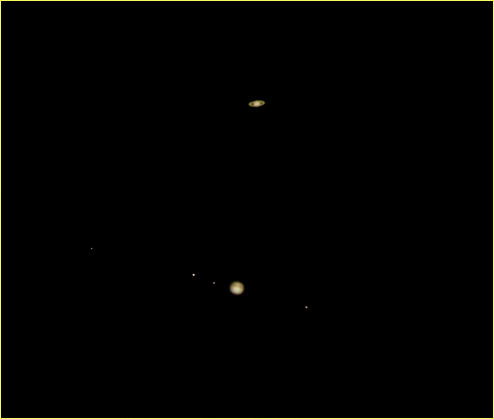 Jupiter und Saturn am 21. Dezember 2020