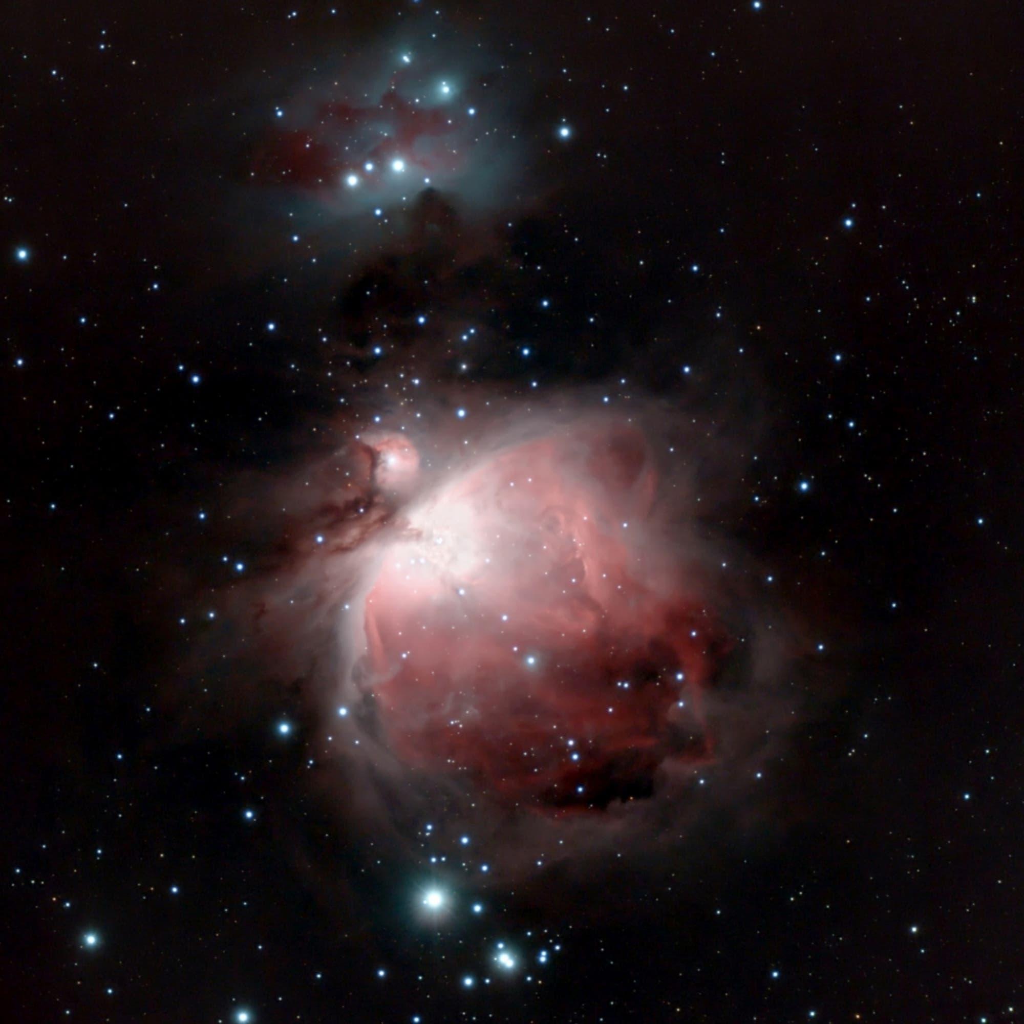 Running Man und Orionnebel