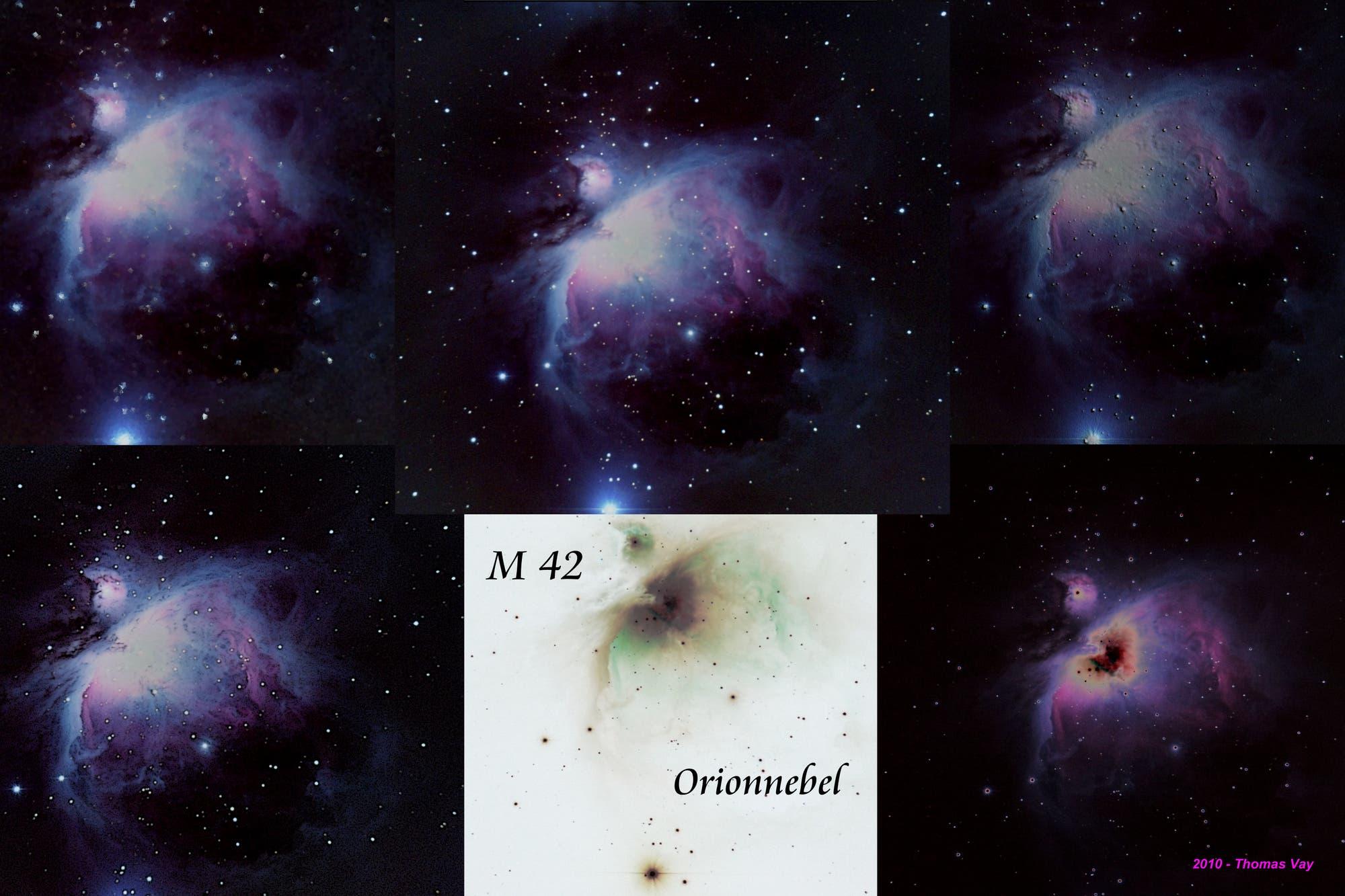 M 42, Orionnebel mal anders