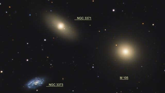 Messier 105 Galaxiengruppe (Objekte)