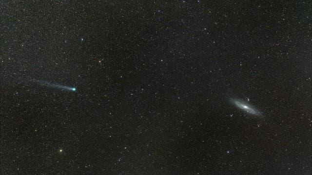 Komet meets M31