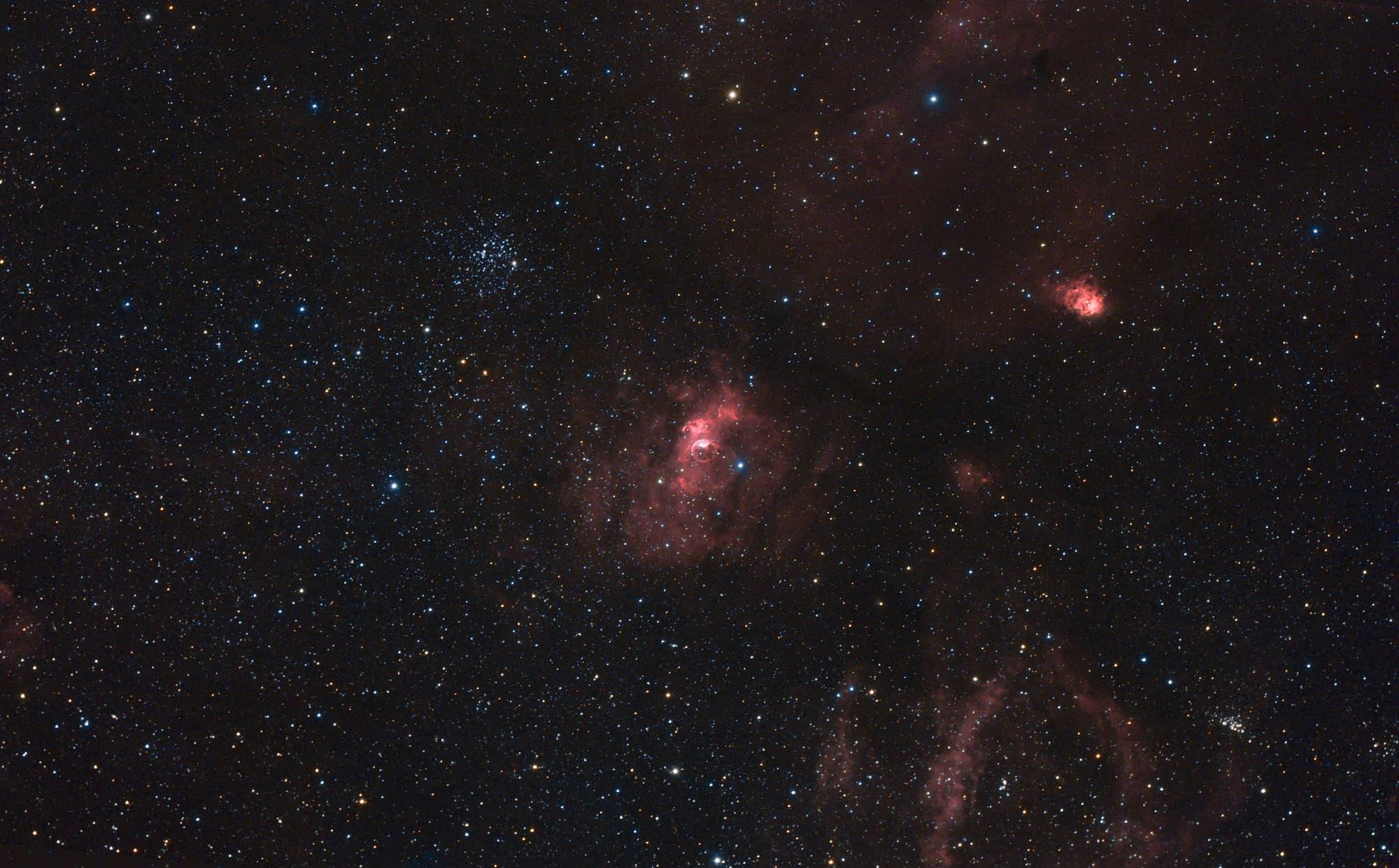 M 52 + NGC 7635 Bubble-Nebel