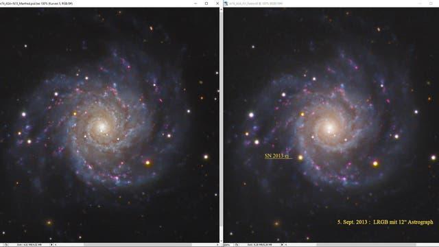 Messier 74 mit Supernova 2013ej