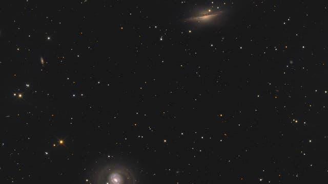 Messier 77 und NGC 1055