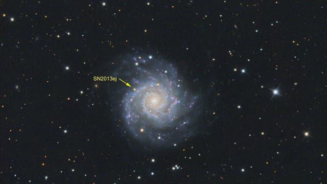 M74 und die Supernova SN2013ej
