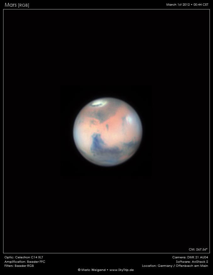 Mars: Syrtis Major und Utopia Planitia