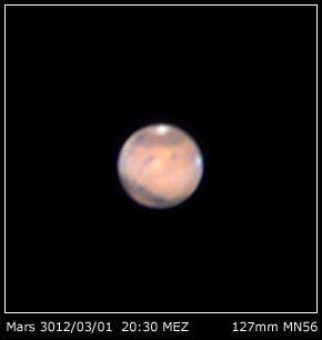 Mars am 01.3.2012 mit 5-Zoll-MN56