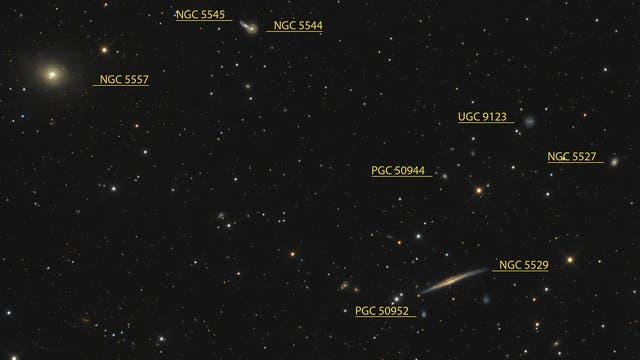 NGC 5529 und NGC 5557 (Objekte)