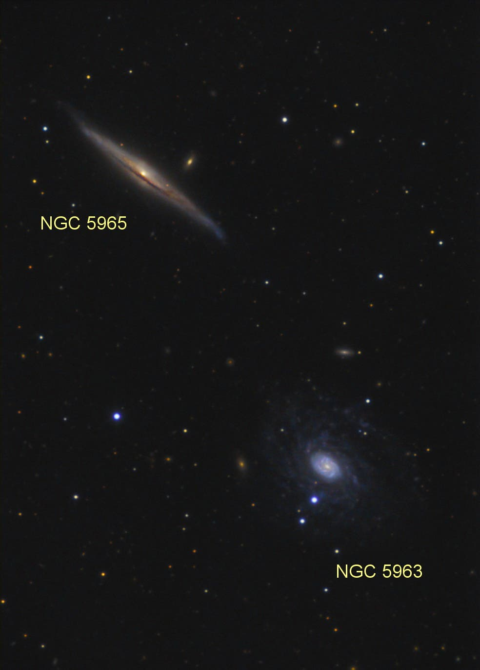 NGC 5963 und NGC 5965 (Objekte)