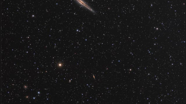NGC 891 und Umgebung