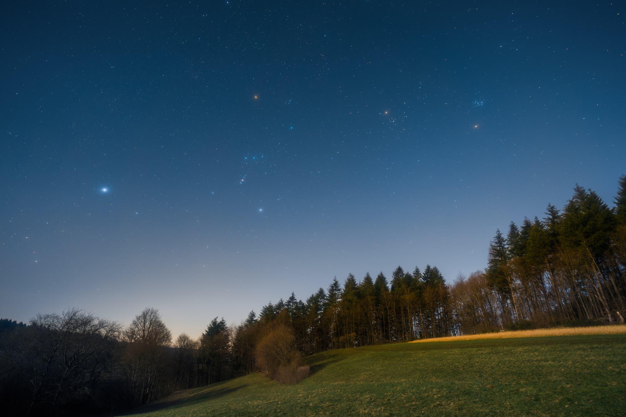Orion über dem Odenwald