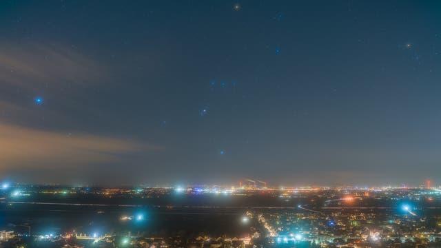 Orion über der Rheinebene