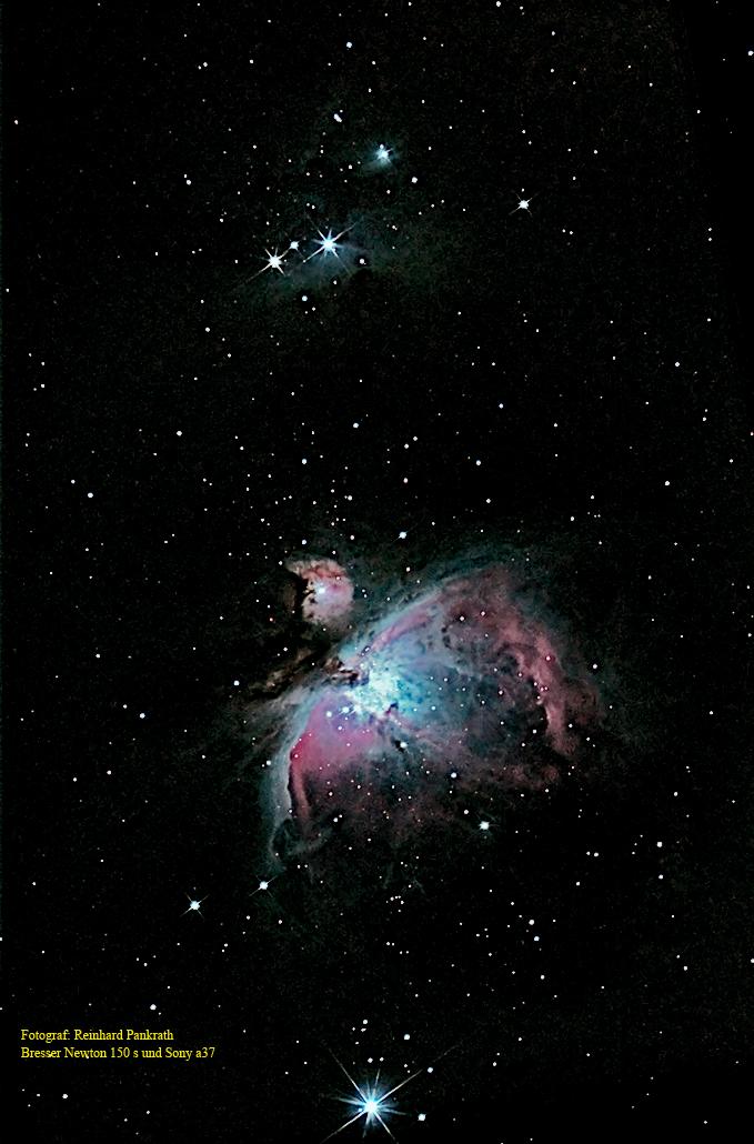 Es gibt trotz Lichtverschmutzung noch Hoffnung! Messier 42 unter widrigen Umständen
