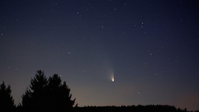 Komet Panstarrs über dem Kobernaußerwald