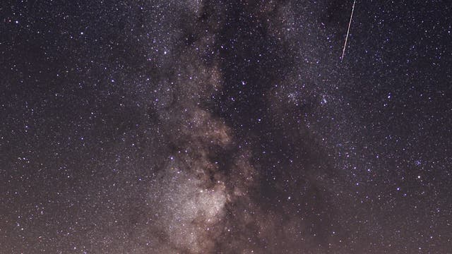 Perseid und Milchstraße